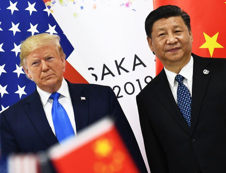 De Amerikaanse president Donald Trump en de Chinese President Xi Jinping.