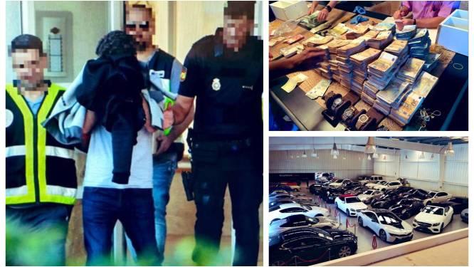 Ontmanteling crimineel netwerk in Spanje: onder meer 4 ton cocaïne, 2 miljoen euro en 42 luxewagens in beslag genomen