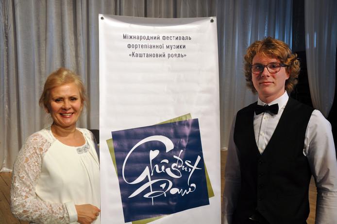 Derk Jan Terpstra met zijn coach Faya Farrakhova.