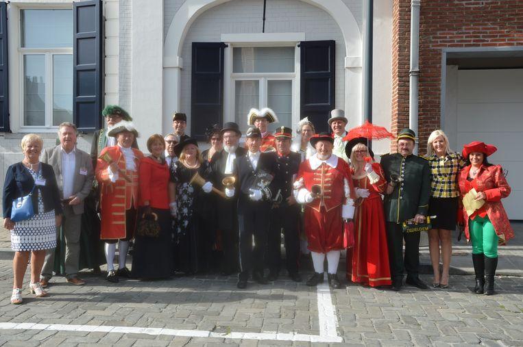 De bellemannen voor de aanvang van het Belgisch kampioenschap.