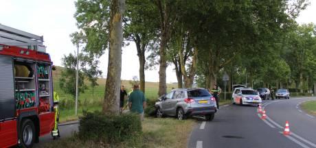 Auto tegen boom in Millingen