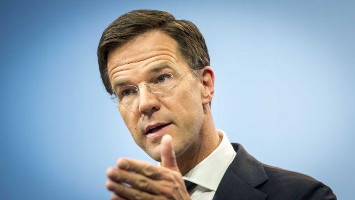 Minister-president Mark Rutte op archiefbeeld