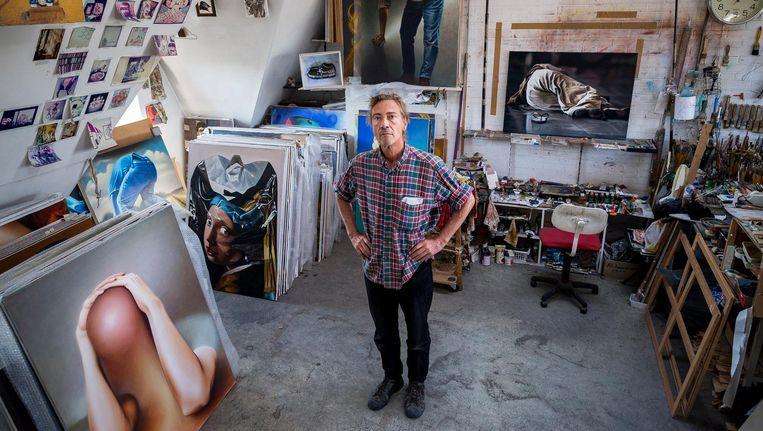 In het atelier van Leo Wijnhoven staan achthonderd kunstwerken Beeld Rink Hof