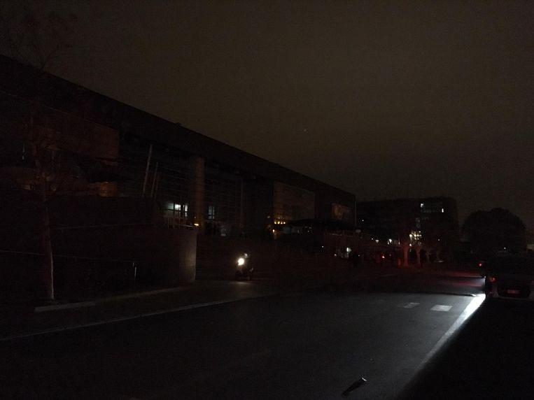 Onder meer het bioscoopcomplex Kinepolis zat zonder elektriciteit