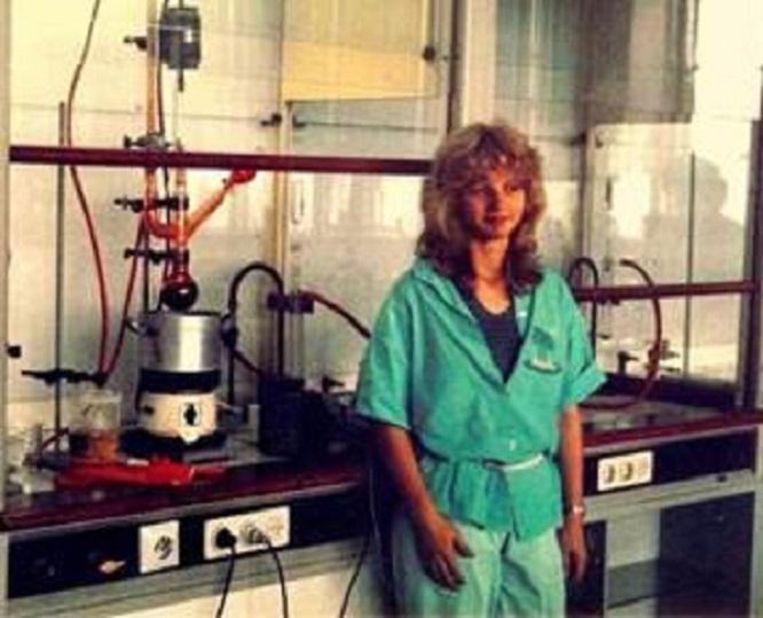 Marjan van Loon in 1984, student scheikundige technologie aan de TU Eindhoven. Beeld
