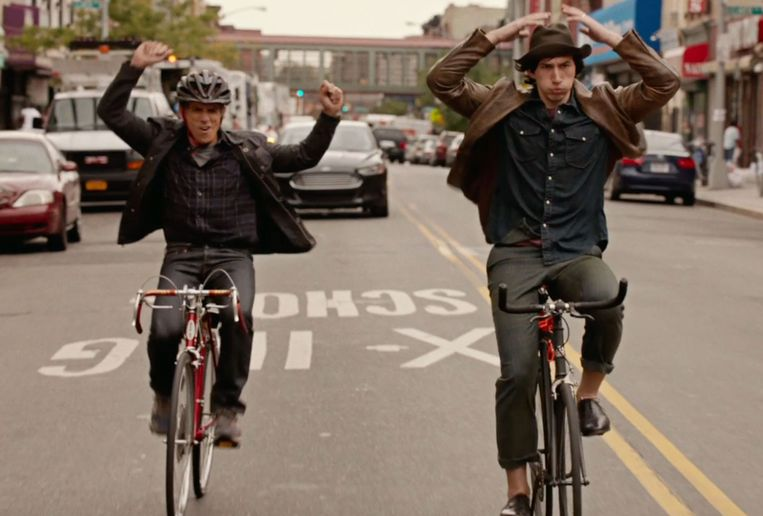 Ben Stiller en Adam Driver in While We're Young. Beeld null