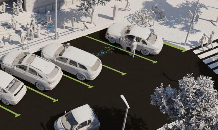 Aan parkeerplaatsen kan een sensor, die onder de grond is aangebracht, onder meer te weten komen wanneer (elektrische) auto's er staan.