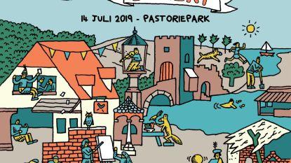 Zondag middeleeuws feest met volksdans, boogschieten, een steekspel en een volksbal