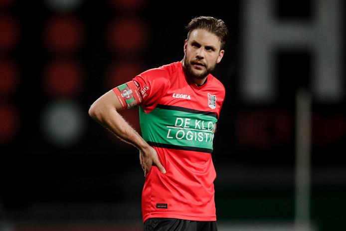 """Voormalig PEC Zwolle-speler Joey van den Berg mag NEC alweer verlaten. ,,Ik ben fitter en gretiger dan ooit. Daar ligt het allemaal niet aan."""""""