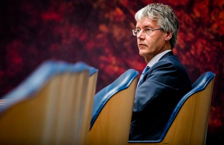 Minister Arie Slob voor Basis- en Voortgezet Onderwijs en Media (ChristenUnie) in de Tweede Kamer. Beeld ANP