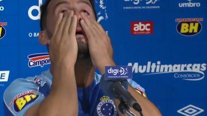 Braziliaanse voetballer kan tranen niet bedwingen wanneer hij praat over geweld in thuisland van Venezolaanse tegenspelers
