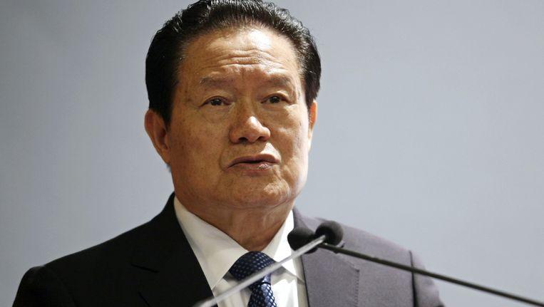 Oud-politbureaulid Zhou Yongkang. Beeld epa