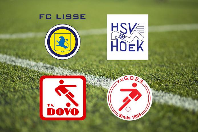 Hoek treft FC Lisse, Goes speelt tegen Dovo