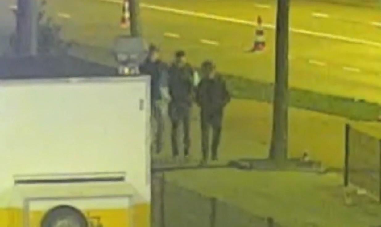 De drie mannen die betrokken waren bij de schietpartij.