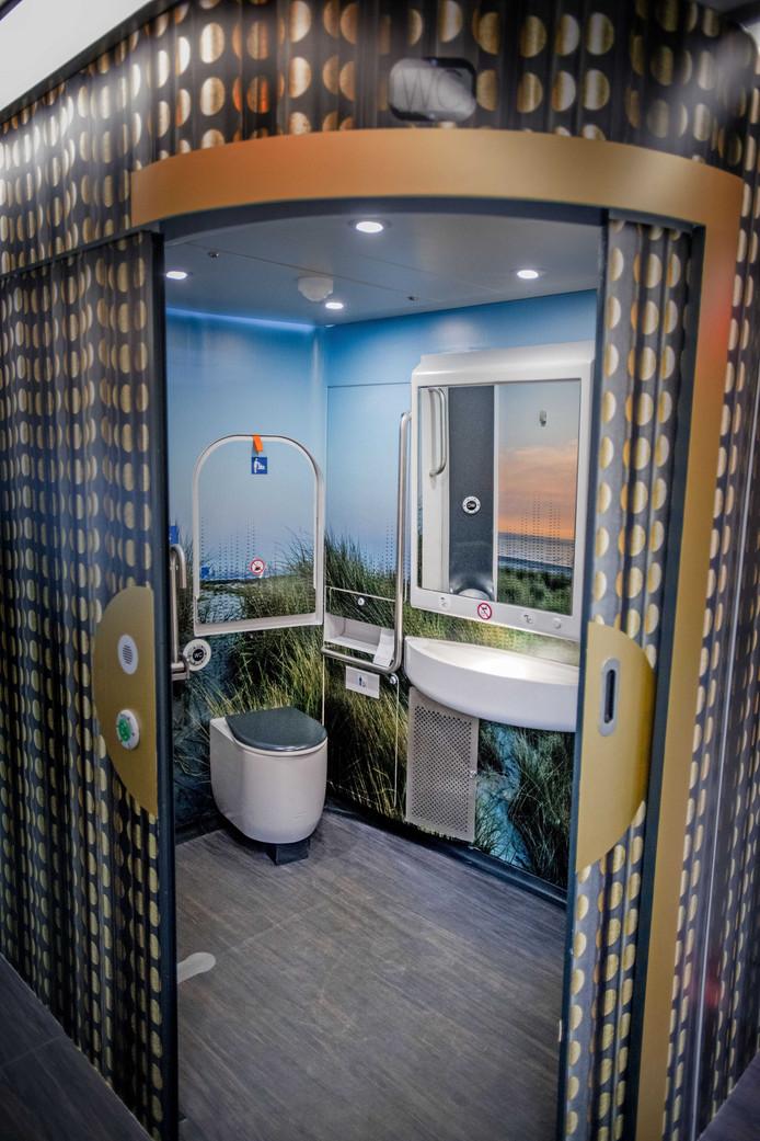 Een toilet in de nieuwe Intercity.