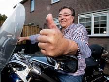 Met een teen als duim rijdt Jan Frantsen weer motor