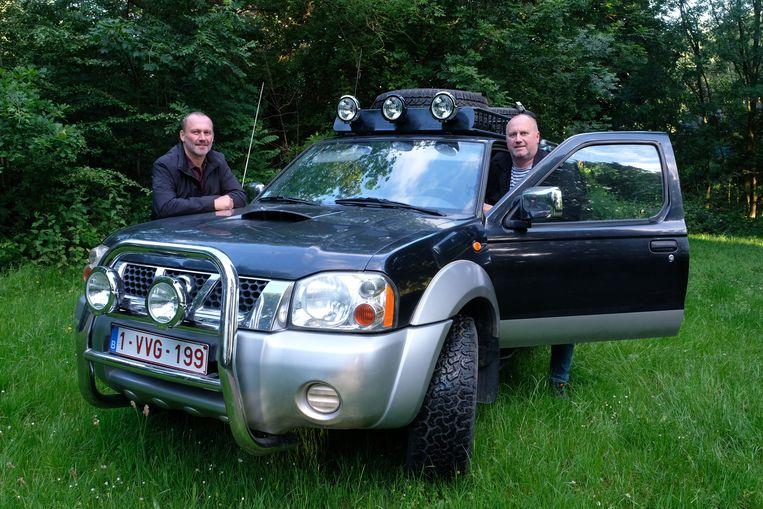 Philippe Reinardts en Lode Stevens voor hun vertrek