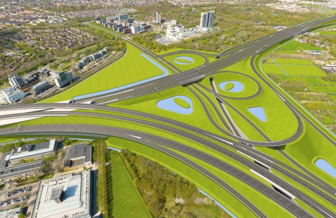 Knooppunt Rijnsweerd (A27 en A28) krijgt hogere rijbanen. De zogeheten Varkensbocht aan de kant van de wijk Rijnsweerd verdwijnt.