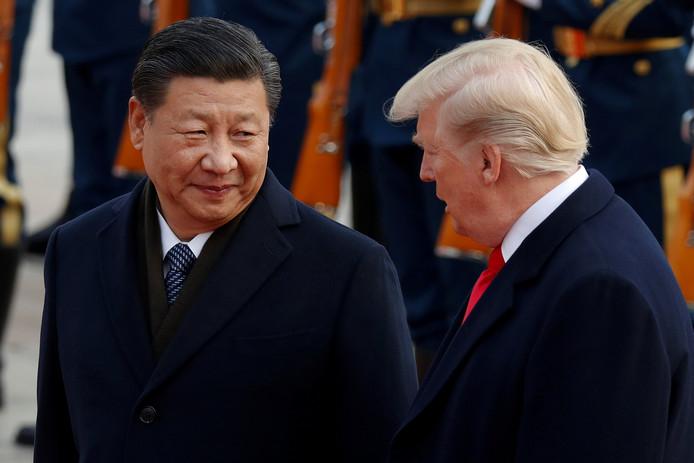 Le président chinois Xi Jinping et Donald Trump (archives)