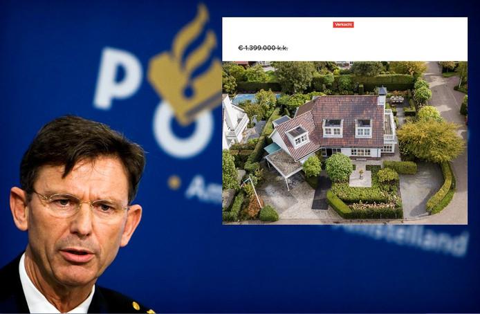 Het door de politie gefinancierde deel van zijn villa in Warmond leverde Welten bij verkoop ruim 150.000 euro op.