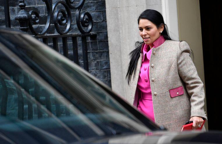 De Britse minister van Binnenlandse Zaken, Priti Patel. Beeld null