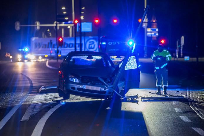 Een automobilist raakte gewond op de N201