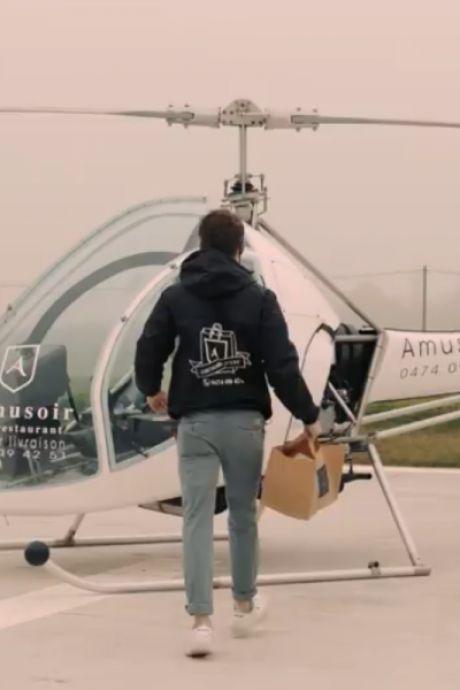 Ce restaurant belge fait le buzz avec ses plats livrés par hélicoptère