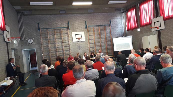 De bijeenkomst van de Werkgroep Trekdijk werd donderdagavond druk bezocht.