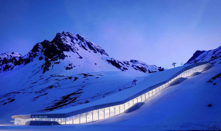 Een artist impression van hoe het eruit zou kunnen zien in de bergen boven Tignes.