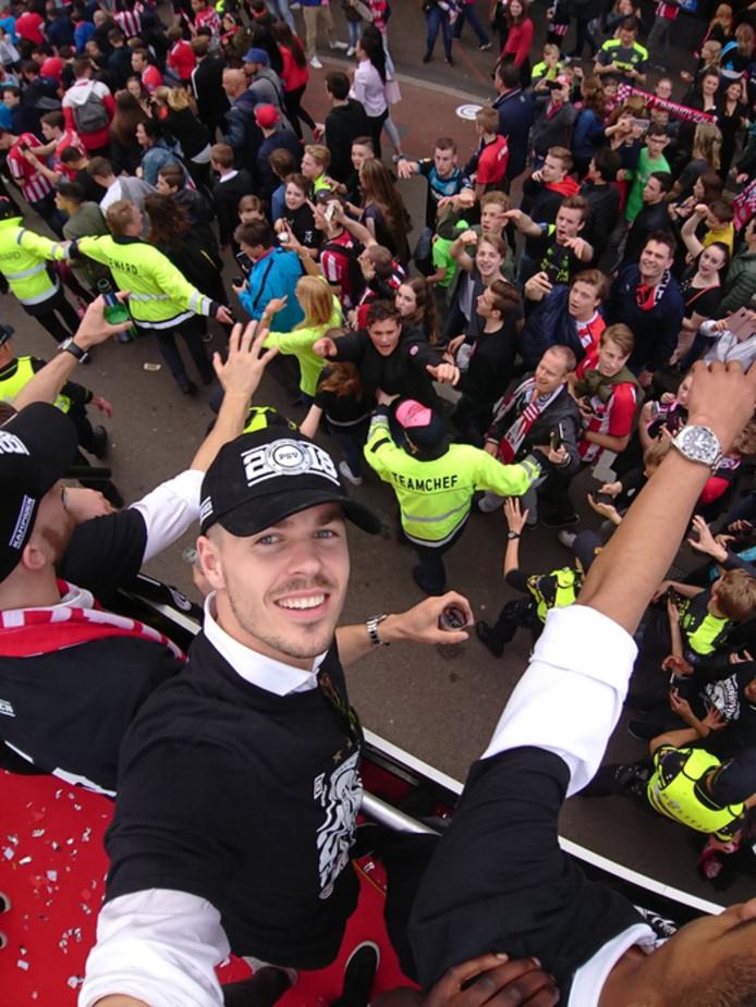Arno Vermeulen stuurde een selfie van Marco van Ginkel.