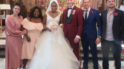 Zangeres Coely en haar Ben getrouwd in kerk van Sint-Gillis