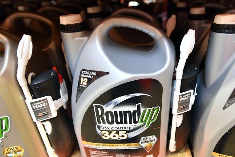 Het bestrijdingsmiddel Roundup. Beeld AFP