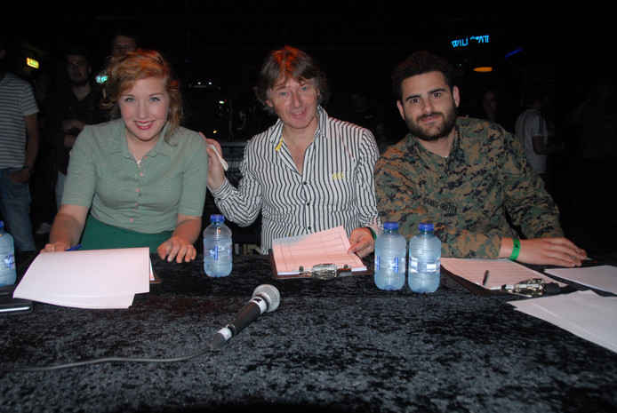 De jury, v.l.n.r. Judy Blank, Jeroen van Peer en Yassine Belghanch