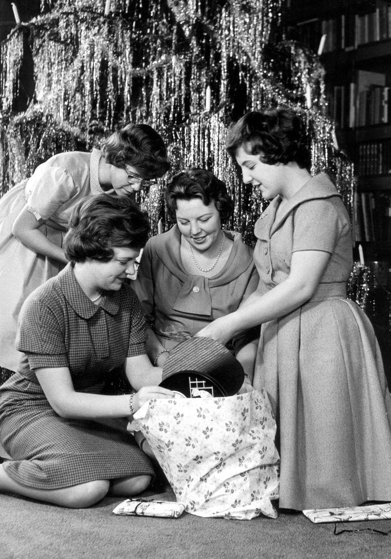 Prinsessen Christina, Irene, Beatrix en Margriet, 1959. Beeld ANP