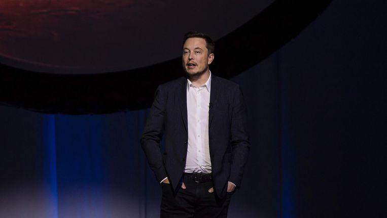 Tesla-voorman Elon Musk Beeld null