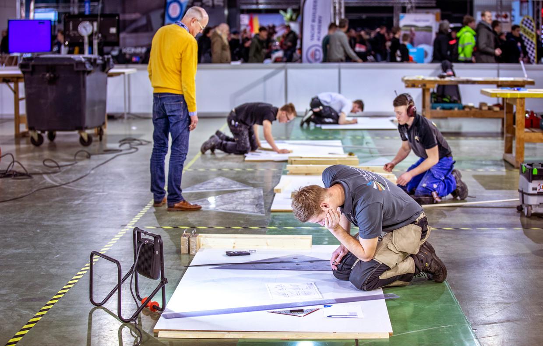 Tijdens de Olympische Spelen voor beroepen laten mbo-studenten zien wat ze kunnen. Beeld Raymond Rutting / de Volkskrant