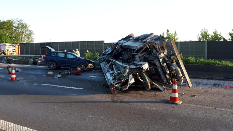 Ook een personenwagen raakte betrokken bij het verkeersongeval.