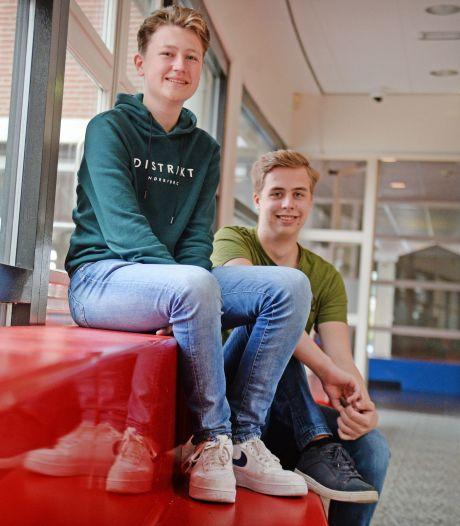 Net 17, maar Luc en Wout hebben hun eerste vakken aan Universiteit Twente al binnen