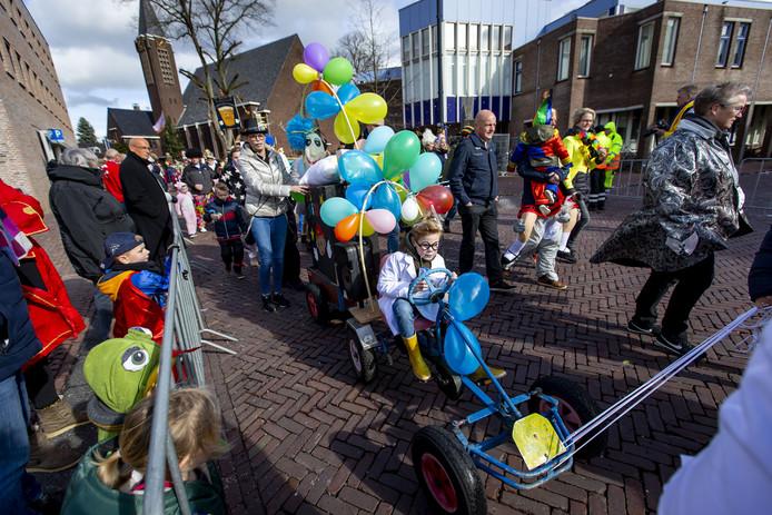Vernieuwde kinderoptocht Oldenzaal vorig jaar.