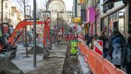Pas heraangelegd voetpad Keyserlei opnieuw opengebroken: 70 meter kabel blijkt plots verdwenen te zijn