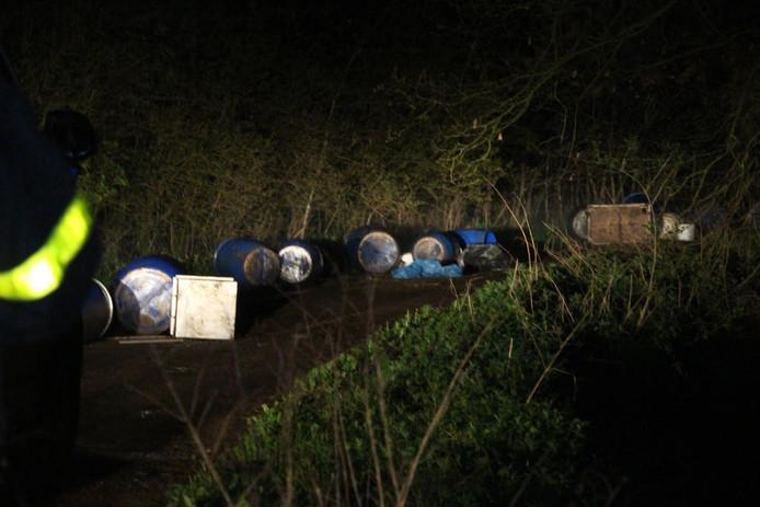 Opnieuw gedumpt drugsafval aangetroffen in Alphen