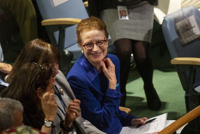 Unicef-directeur Henrietta Fore (centraal op de foto)
