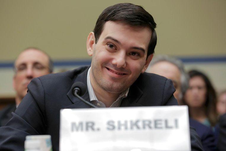 'De meest gehate man van Amerika', Martin Shkreli, tijdens een hoorzitting. Beeld reuters