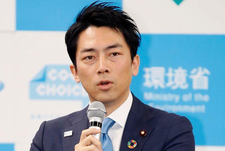 De Japanse minister van milieu Shinjiro Koizumi wil verlof opnemen als zijn kind is geboren. Beeld AP