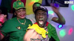 """Delirium bij Kameroeners in Brussel: """"Hugo Broos is God!"""""""