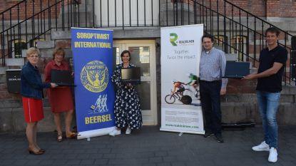 Soroptimist Club Beersel helpt schoolgaande kinderen in deze coronacrisis aan laptops