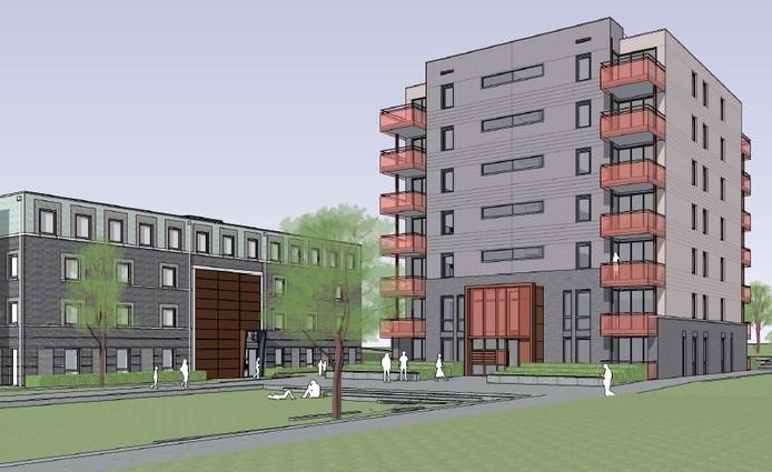 Impressie van het geplande 'Torentje van Vivare' in de Arnhemse nieuwbouwwijk Saksen Weimar.