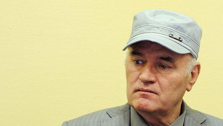 Mladic in het Joegoslavië-Tribunaal in 2011. Beeld reuters