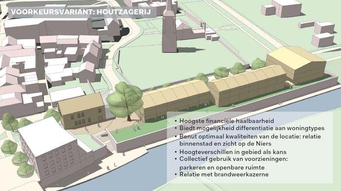 De schetsen voor Gennepermolen. Uit de presentatie van MeyerBergman Erfgoed Ontwikkeling.