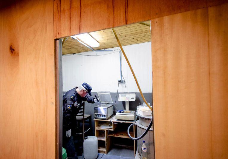 Politie-invallen in drugslaboratoria in Eindhoven en Moergestel. Beeld ANP
